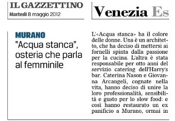 Il Gazzettino – Osteria speaking female